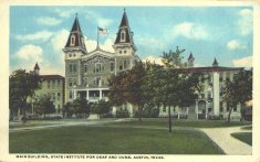main building state institute for deaf and dumb color illustration disability history america