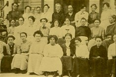 group of women sepia photograph disability history america