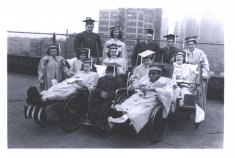 class graduation black white photograph disability history america