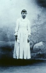 young female bertha flaten black white photograph disability history america