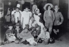 ben minowitz school children in costumes black white photograph disability america