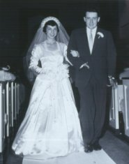 newlywed bride and groom black white photograph disability history america