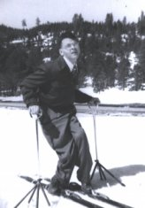 man skiing black white photograph disability history america