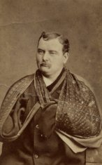 adult male portrait sepia disability history america