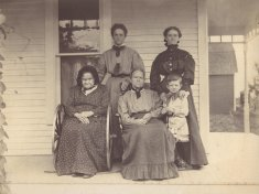 generational sepia family portrait disability history america