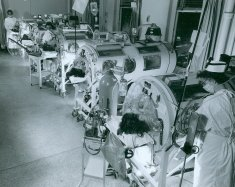 black white hospital ward photograph disability america