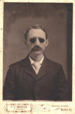 man tinted glasses sepia portrait disability history america