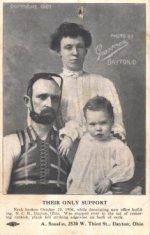 their only support beggar card black white photograph of family disability history america