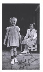 black white poster of nurse and child disability history america