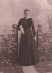 Sepia portrait women in tinted glasses photograph disability history america
