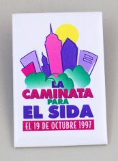 la caminata para el sida aids button in spanish disability history america