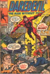A Daredevil comic book cover depicts the city in need of saving by the blind superhero.
