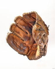 brown leather glove disability history america